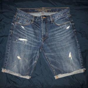 American Eagle Jean Shorts Waist Size 33